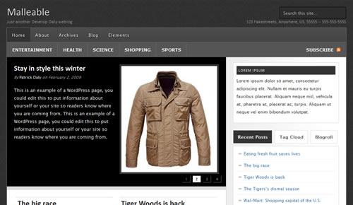 Sm WordPress Theme 29 in 100 Free High Quality WordPress Themes: 2010 Edition