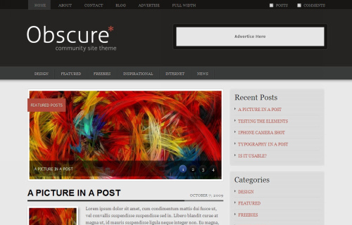 Wordpress-143 in 100 Free High Quality WordPress Themes: 2010 Edition