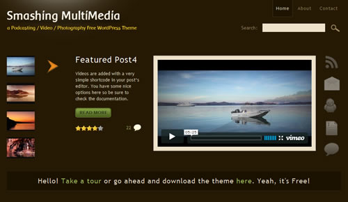 Sm WordPress Theme 64 in 100 Free High Quality WordPress Themes: 2010 Edition