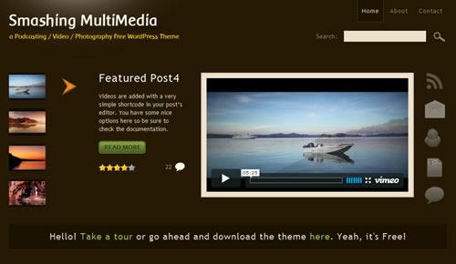 Sm WordPress Theme 64 in 100 Free High Quality WordPress Themes: 2010 Edition
