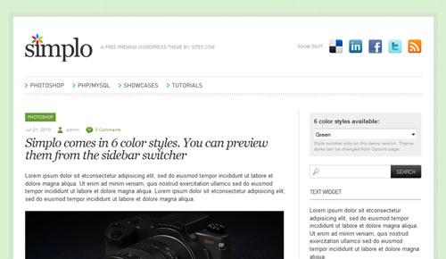 Sm WordPress Theme Bb in 100 Free High Quality WordPress Themes: 2010 Edition