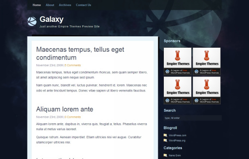 Wordpress-123 in 100 Free High Quality WordPress Themes: 2010 Edition