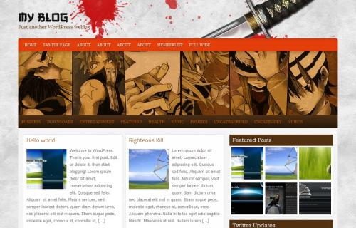 Wordpress-125 in 100 Free High Quality WordPress Themes: 2010 Edition