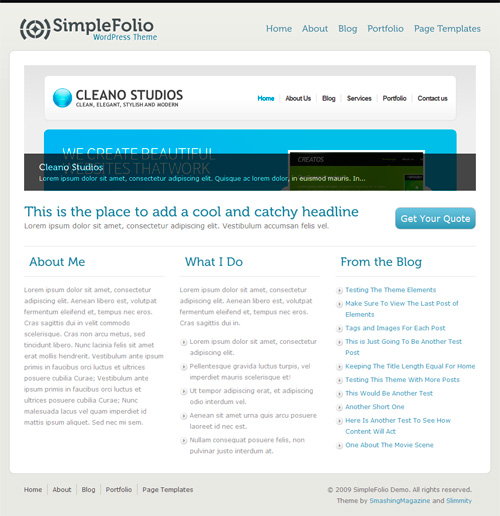 Wordpress-133 in 100 Free High Quality WordPress Themes: 2010 Edition