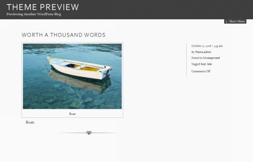 Wordpress-105 in 100 Free High Quality WordPress Themes: 2010 Edition