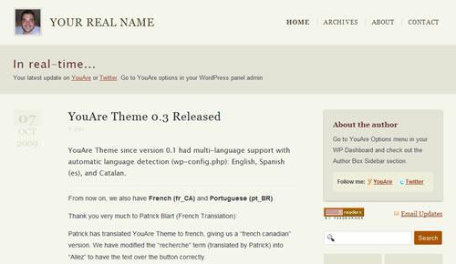 Sm WordPress Theme 38 in 100 Free High Quality WordPress Themes: 2010 Edition
