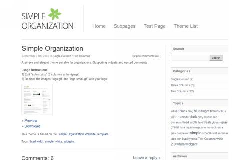 Wordpress-148 in 100 Free High Quality WordPress Themes: 2010 Edition