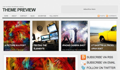 Sm WordPress Theme 17 in 100 Free High Quality WordPress Themes: 2010 Edition