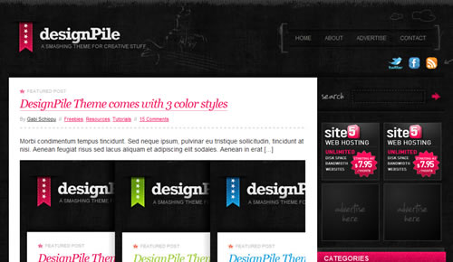 Sm WordPress Theme 14 in 100 Free High Quality WordPress Themes: 2010 Edition