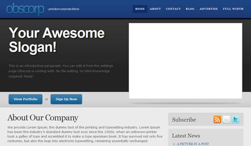 Sm WordPress Theme 07 in 100 Free High Quality WordPress Themes: 2010 Edition
