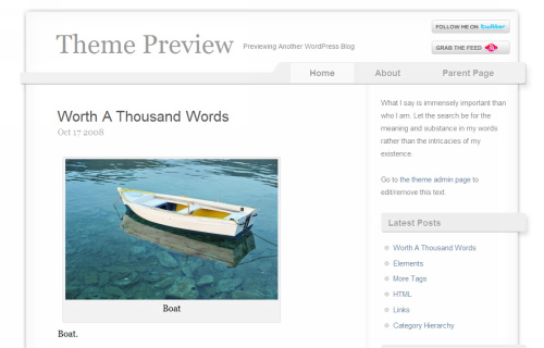 Wordpress-103 in 100 Free High Quality WordPress Themes: 2010 Edition