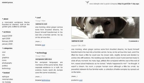 Sm WordPress Theme 49 in 100 Free High Quality WordPress Themes: 2010 Edition