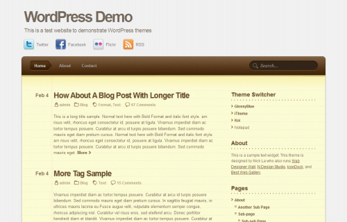 Wordpress-124 in 100 Free High Quality WordPress Themes: 2010 Edition