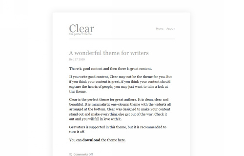Wordpress-111 in 100 Free High Quality WordPress Themes: 2010 Edition