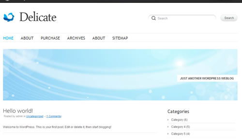 Sm WordPress Theme B in 100 Free High Quality WordPress Themes: 2010 Edition