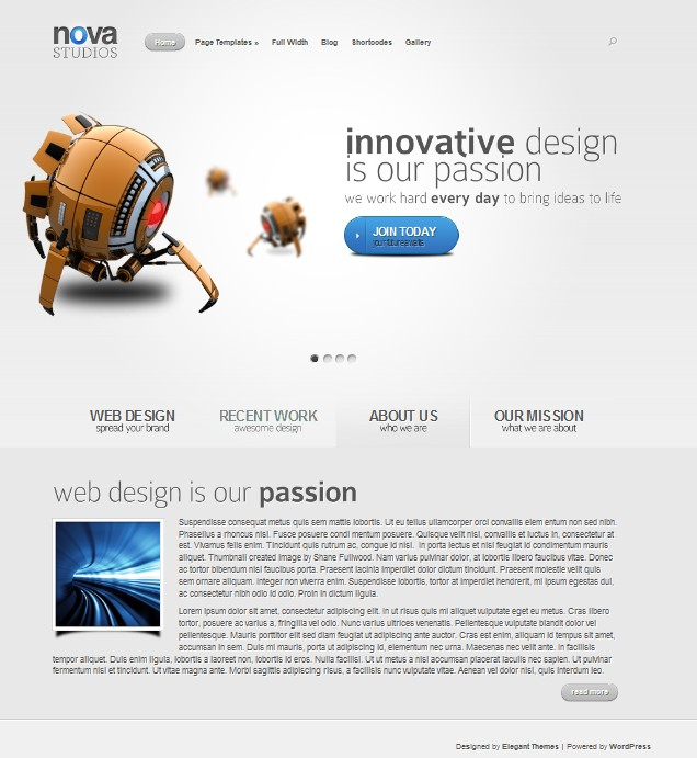 nova cms business wordpress theme