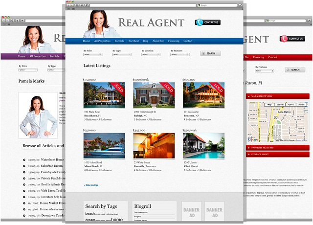 realagent real estate wordpress theme