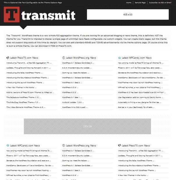 Atractivo Rss Agregador Wordpress Tema Galería - Colección De ...