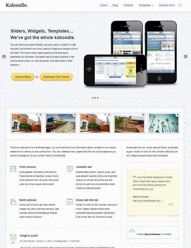 Kaboodle business wordpress theme