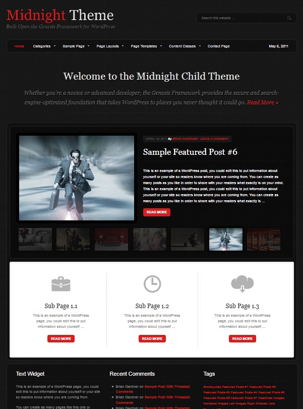 dark wordpress themes
