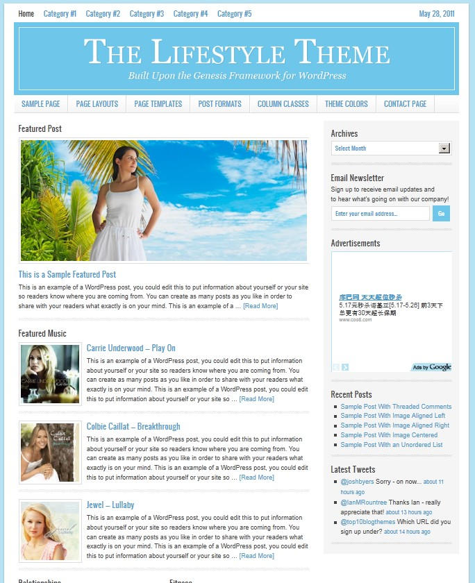 studiopress lifestyle magazine wordpress theme