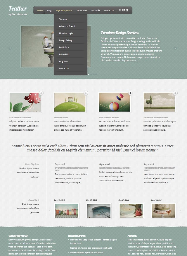 elegant feather wordpress theme