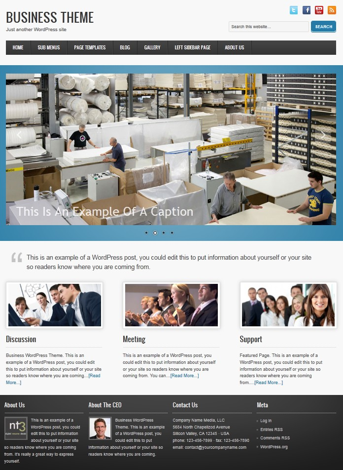 cms business wordpress theme