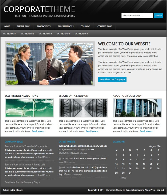 corporate wordpress theme studiopress
