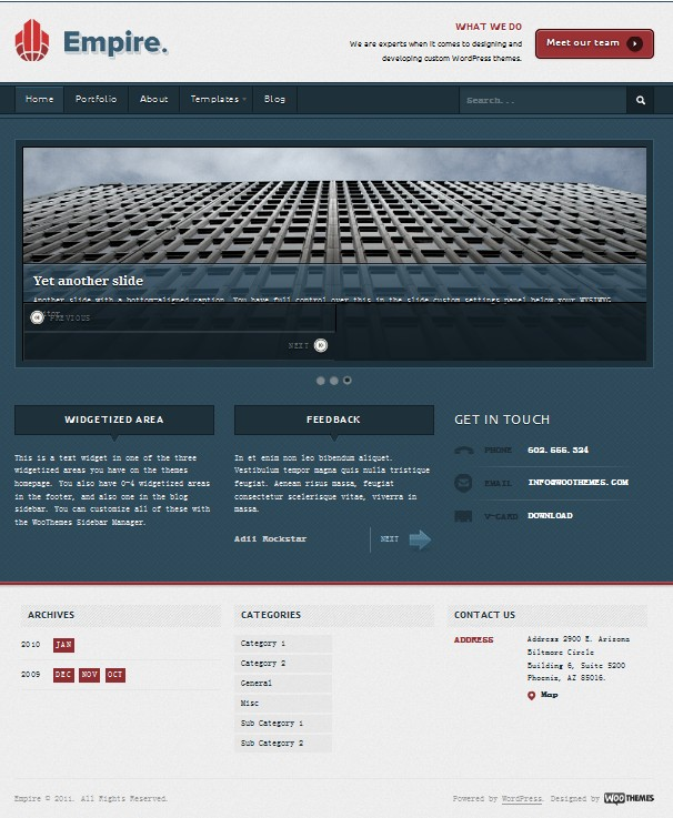 wordpress business theme empire