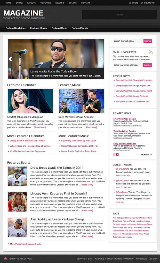 magazine 2.0 wordpress theme studiopress