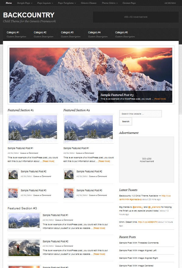 magazine wordpress theme backcountry