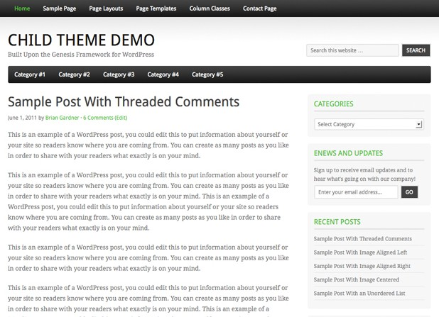 fairway free wordpress theme 2012