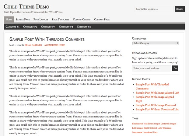 free studiopress wordpress themes