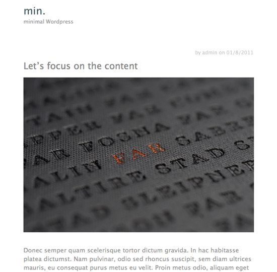 Min WordPress Theme