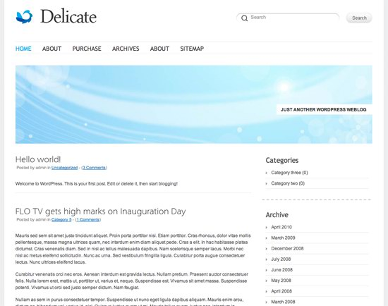 Delicate WordPress Theme