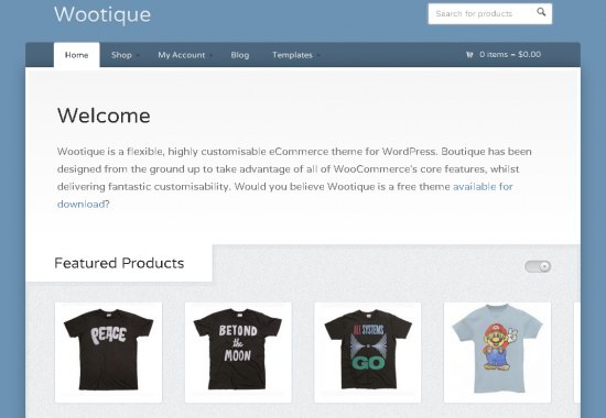 Wootique WordPress Theme