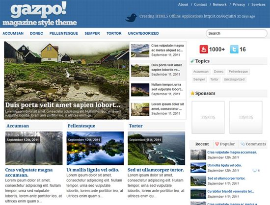 GazpoMag WordPress Theme
