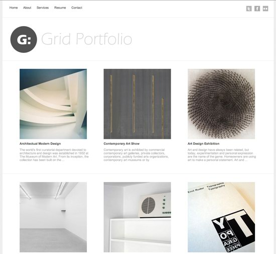 Grid Portfolio WordPress Theme