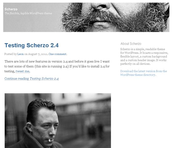 Scherzo WordPress Theme