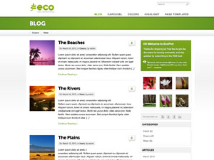 Pagelines Free WordPress Theme: Eco