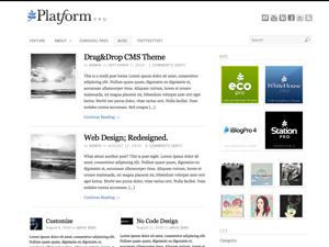Pagelines Free WordPress Theme: Platform