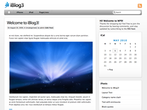 Free PageLines WordPress Theme: iBlog