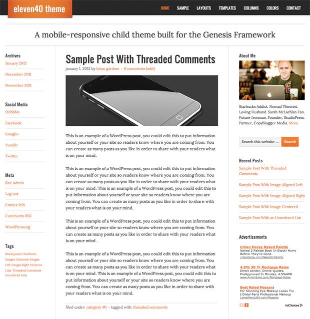 StudioPress eleven40 Theme