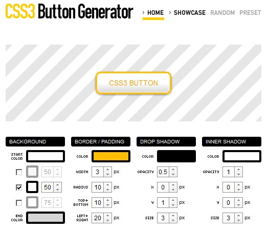 css3 button generater