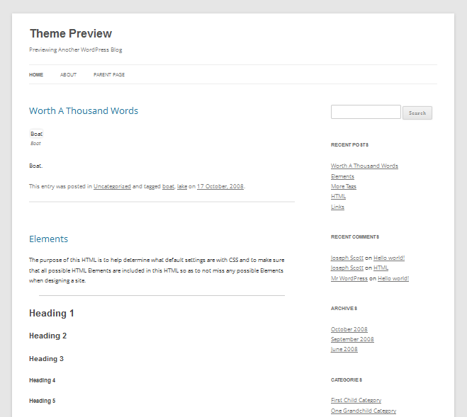 Official Free WordPress Theme Twenty Twelve Released & Download