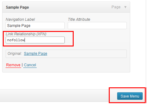 "How to Add ""nofollow"" to WordPress Menu Links"