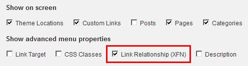 Link Relationship (XFN) box