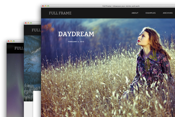 Full Frame photo wordpress theme